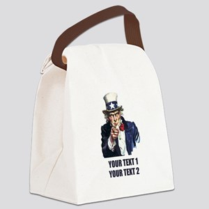[Your text] Uncle Sam Canvas Lunch Bag